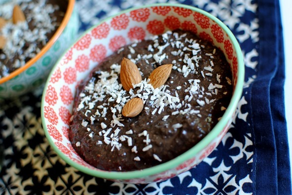Chocolate Coconut Chia Seed Pudding