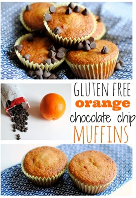 Gluten Free Orange Chocolate Chip Muffins