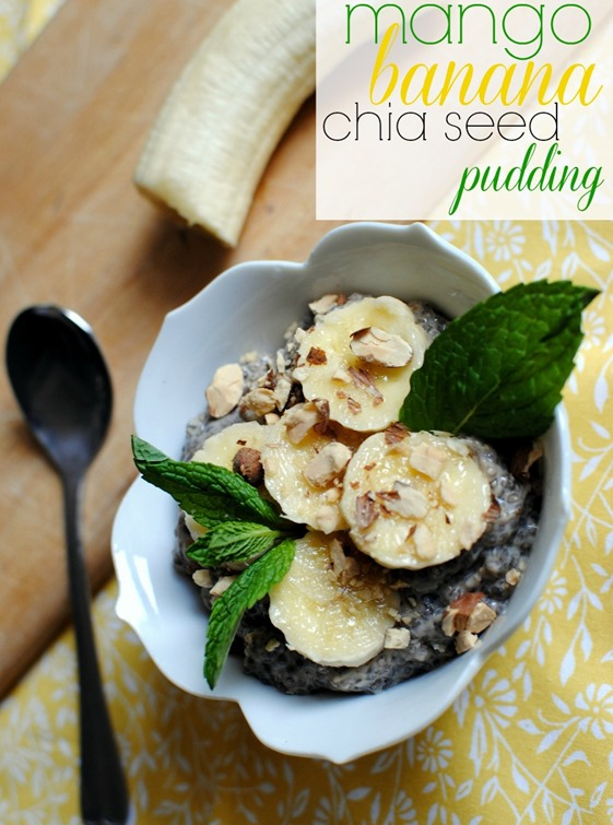 Mango Banana Chia Seed Pudding Recipe
