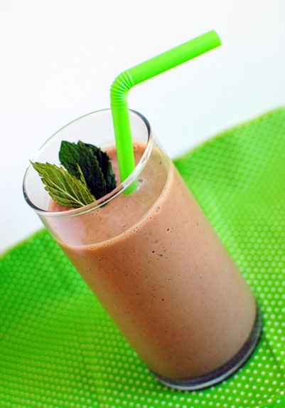Mocha Mint Protein Smoothie