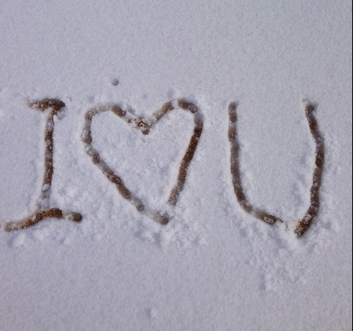 i love you snow