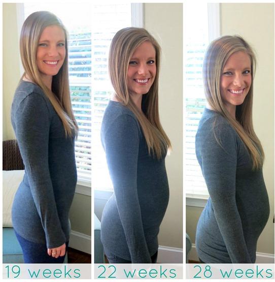 19 weeks 22 weeks 28 weeks pregnant