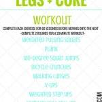 20 MINUTE LEGS AND CORE WORKOUT