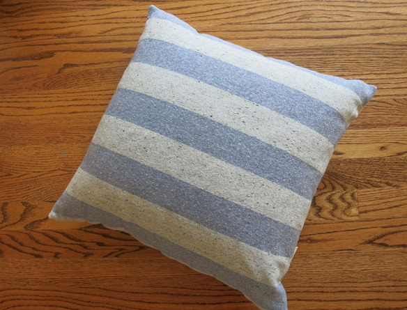 Accent Pillow Blue and Gray Stripe