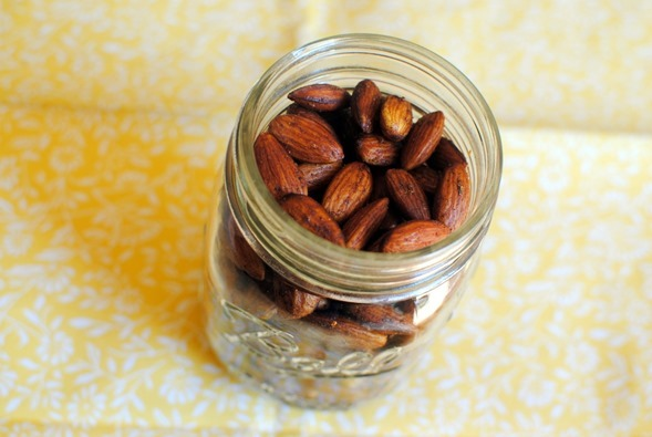 Easy and Healthy Sweet and Spicy Roasted Almonds Recipe