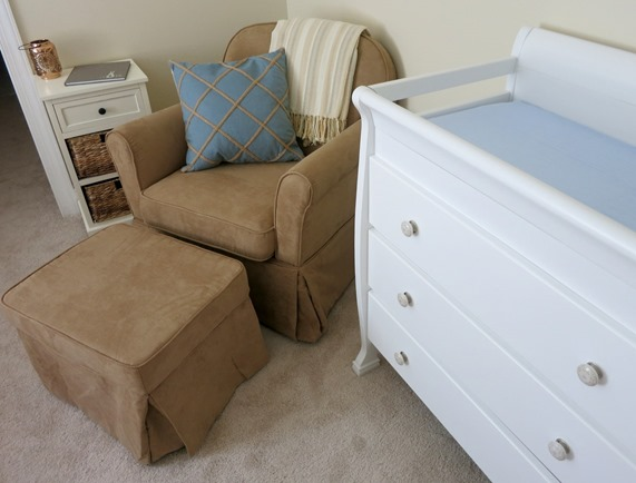 Neutral and Light Blue Nursery