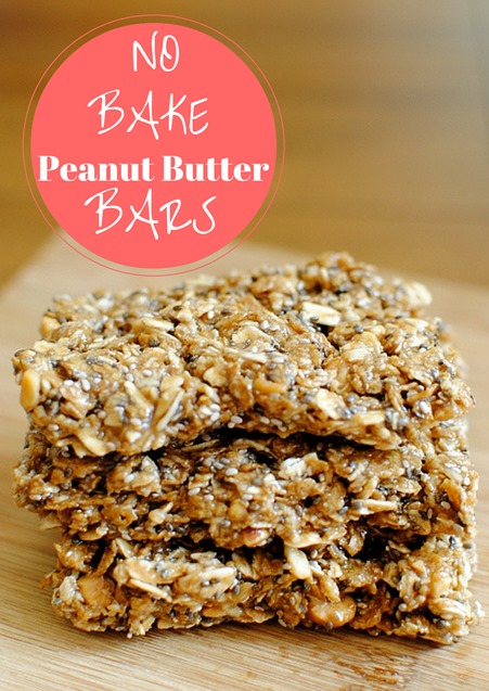 No Bake Peanut Butter Bars