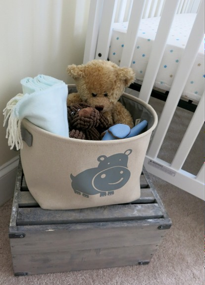 Nursery Elephant Toy Bin
