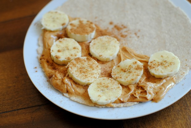 Nut Butter and Banana Roll Up