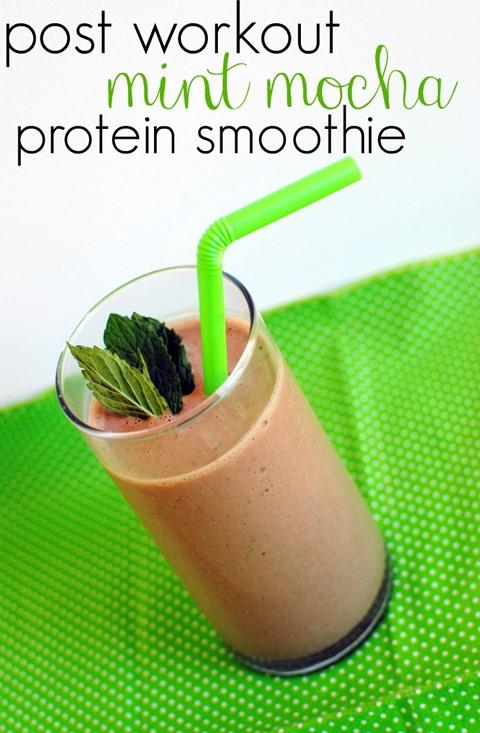 Post Workout Mint Mocha Protein Smoothie