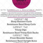 Upper Body Superset Workout with Dumbbells and Resistance Bands