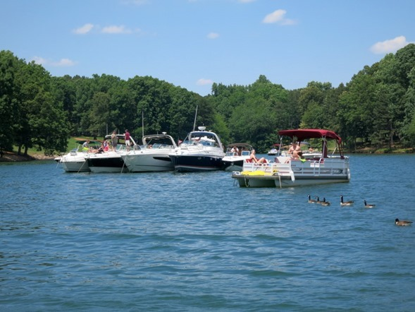 lake norman boat tie up