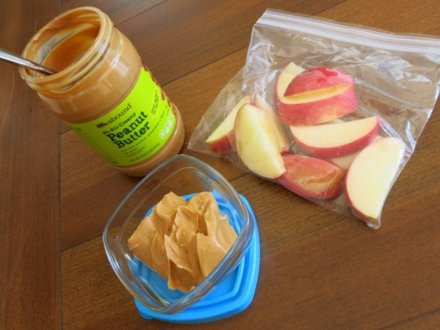 peanut butter and apple slices