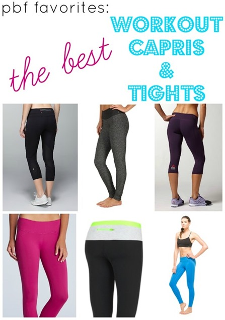 Best Workout Capris and Tights