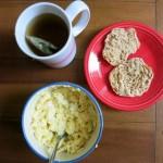 Eggs English muffin Tea