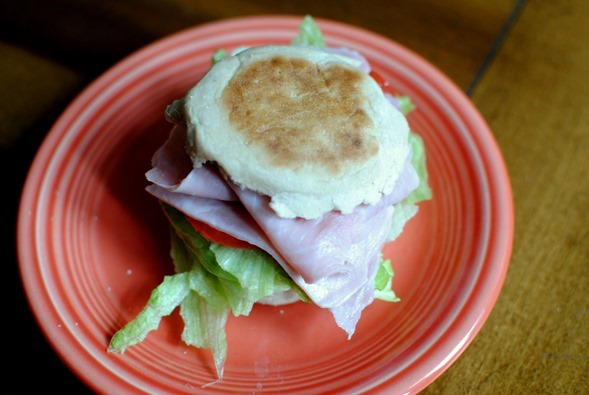 Ham English Muffin Sandwich