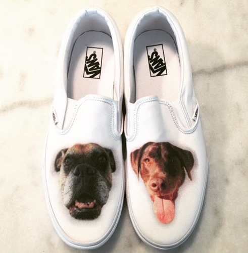 Personalized Vans with Dogs Face