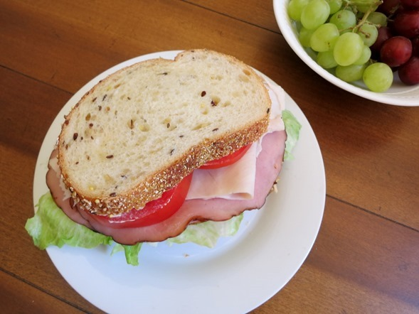 Sandwich with Grapes