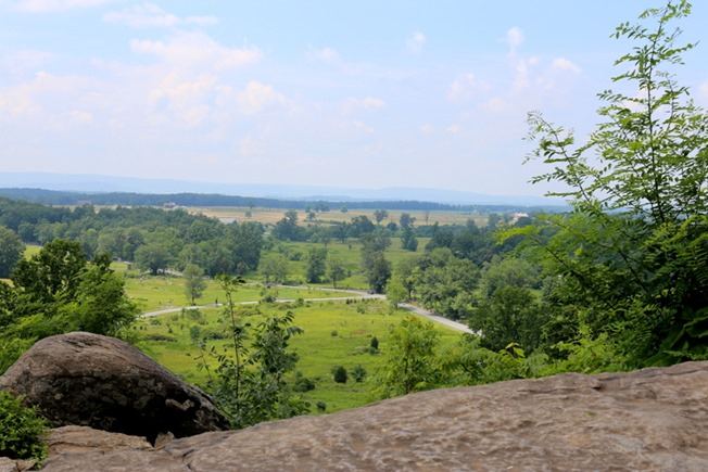 View from Little Round Top Gettysburg