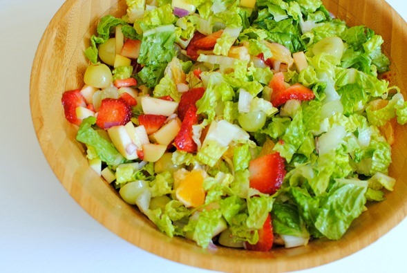 chopped salad with fruit