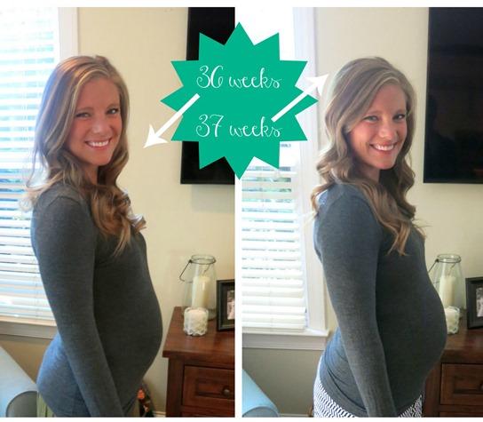 36 weeks 37 weeks pregnant
