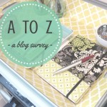 A to Z Blog Survey