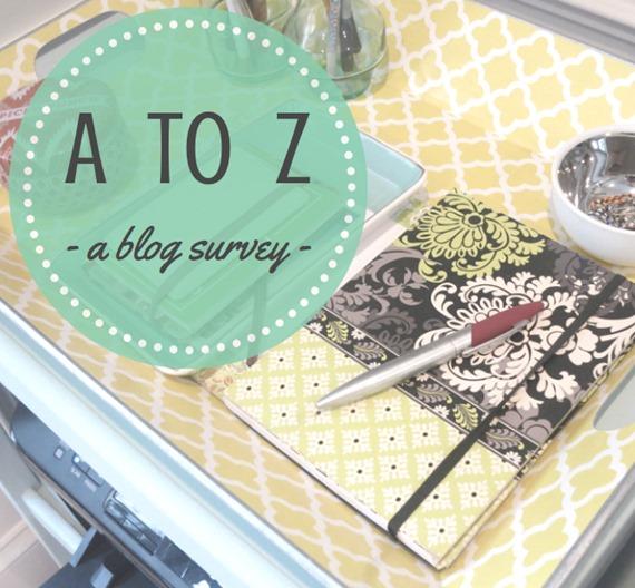 A to Z Blog Survey