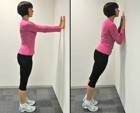 Wall Triceps Push Up