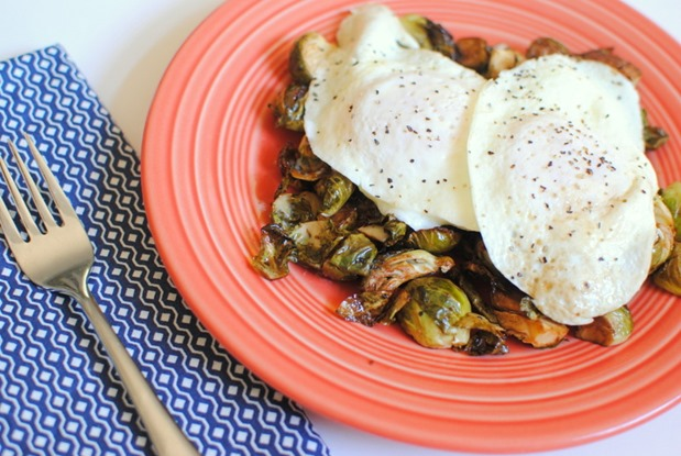 Eggs Over Brussels Sprouts