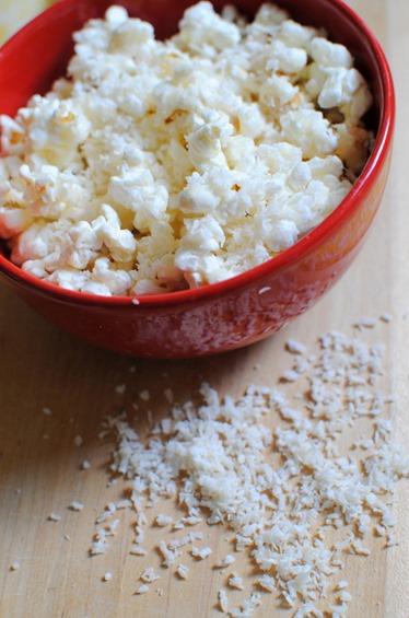 Coconut Dessert Popcorn For One Recipe