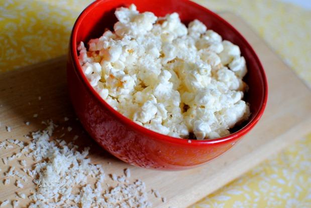 Coconut Dessert Popcorn For One