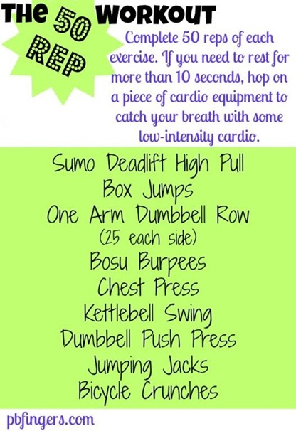 50 Rep Total Body Workout