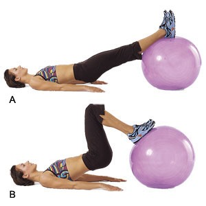 Hamstring Ball Curls