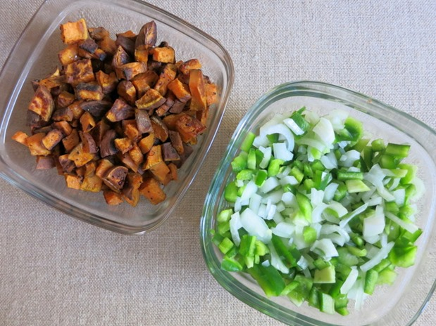 Meal Prep Sweet Potatoes, Peppers and Onions
