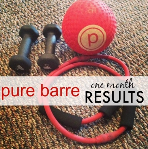 Pure Barre One Month Results