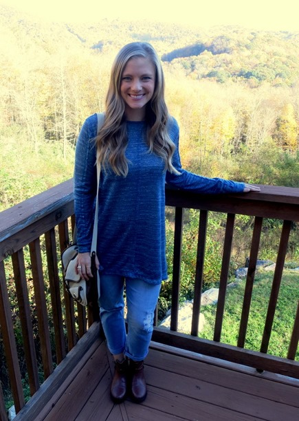 Tunic and Distressed Jeans