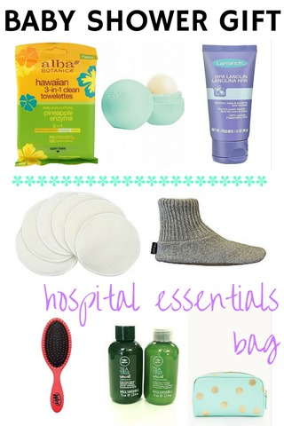 baby shower gift hospital essentials bag peanut butter fingers