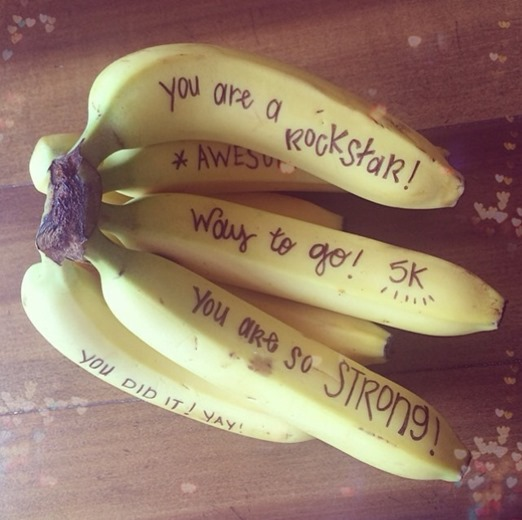 Bananas with Fun Messages for Girls On The Run