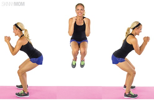 180 degree squat jumps