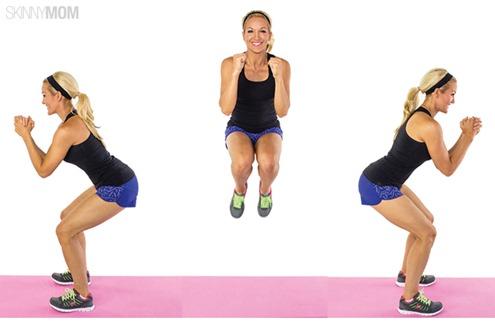 180 degree squat jumps