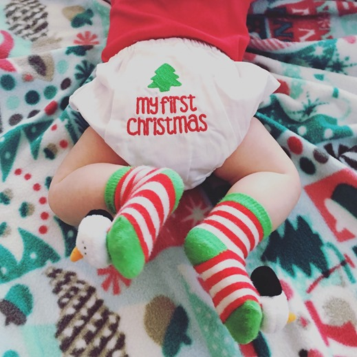 Baby's First Christmas Diaper