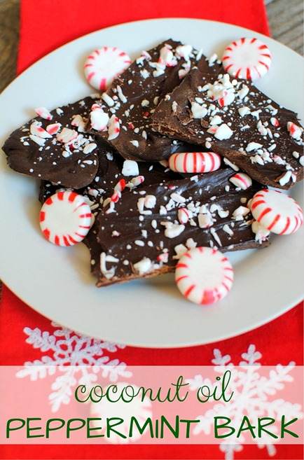 Coconut Oil Peppermint Bark (Easy, healthy and delicious!)