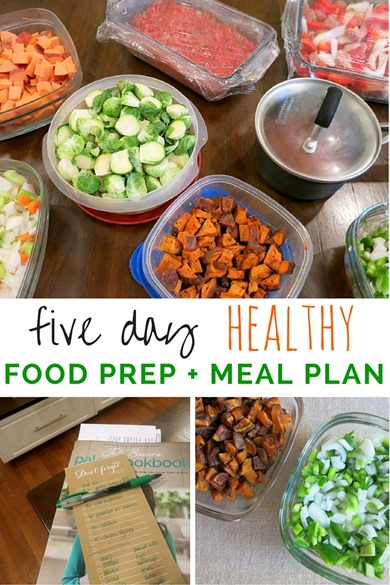 Five Day Healthy Meal Plan with EASY Food Prep Tips - Perfect for busy weeknights!