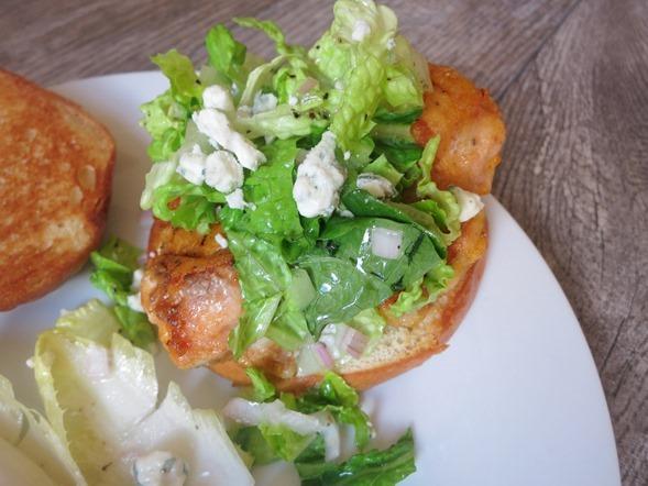Blue Apron Buffalo Chicken Sandwich