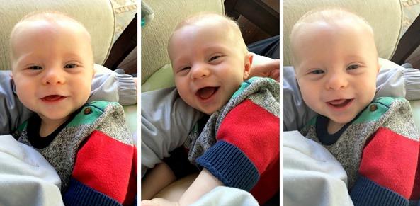 Distracted Breastfeeding Baby