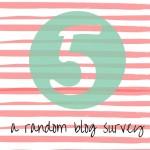 FIVE - A Random Blog Survey