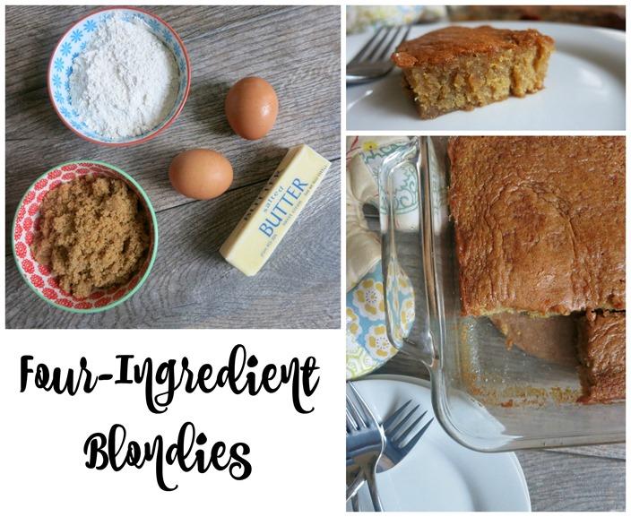 Four Ingredient Blondies