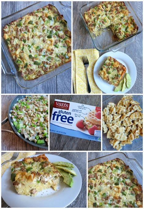 Gluten Free Frozen Waffle Breakfast Strata