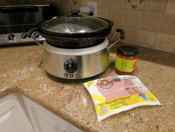 The EASIEST Crock Pot Salsa Chicken