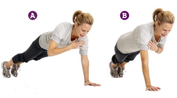 plank shoulder taps